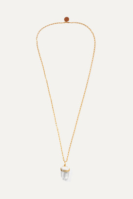 clear Sirconstance - Reiki Gold-plated Crystal Necklace