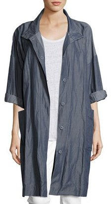 Eileen Fisher Textured Organic Cotton Steel Coat $398 thestylecure.com