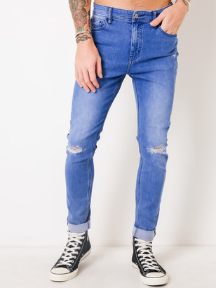 f46f04e1 Lee Z-Roller Tapered Skinny Jeans in Punchy Blue Denim