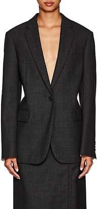 Calvin Klein Women's Checked Worsted Wool Blazer