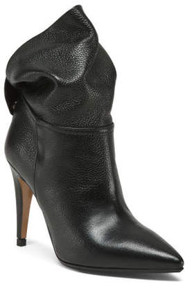 Made In Italy Leather Slouchy Booties