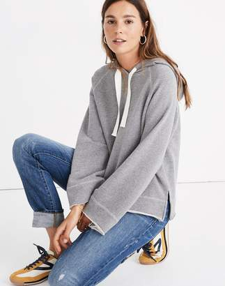Madewell Raw-Edge Oversized Hoodie Sweatshirt