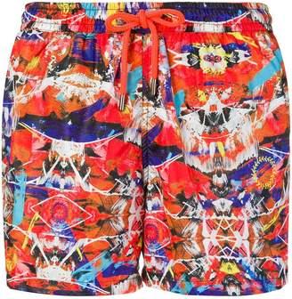 Frankie Morello brush strokes swim shorts