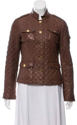 Tory Burch Quilted Leather Jacket