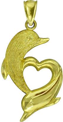 FINE JEWELRY 10K Yellow Gold Dolphin Pendant