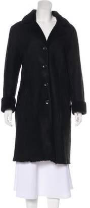 Barneys New York Barney's New York Shearling Knee-Length Coat