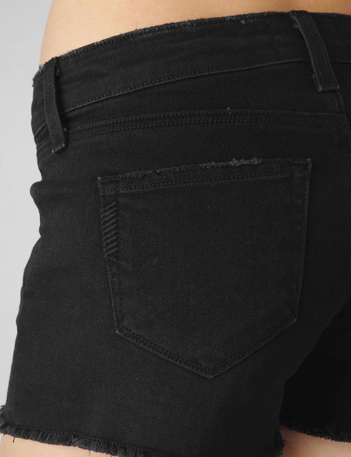 Paige Indio Zip Short / Vintage Black