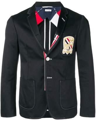 Thom Browne Patch Pocket Grosgrain Sport Coat
