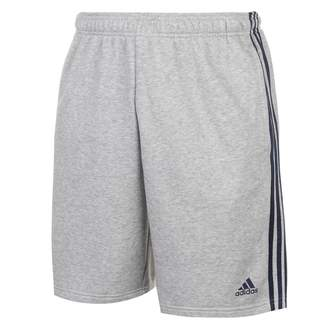 adidas Mens 3S Shorts Jersey Pants Trousers Bottoms Stripe Print Drawstring