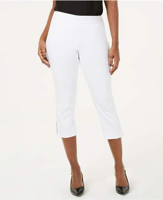 JM Collection Petite Chain-Hem Capri Pants