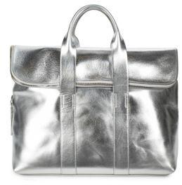 3.1 Phillip LimAnnv Top-Handle Leather Shoulder Bag