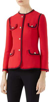 Gucci Silk & Wool Crepe Cady Jacket