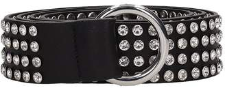B-Low the Belt B Low The Belt Mia Crystal Black Leather Belt