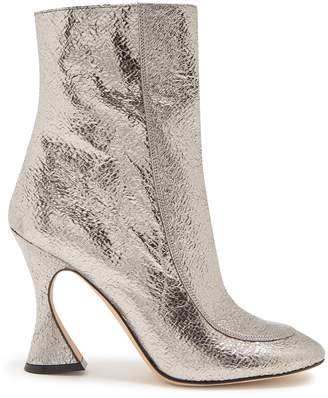 SIES MARJAN Emma crinkled-leather ankle boots