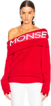 Monse Logo Twist Shawl Sweater