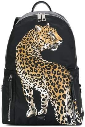 Dolce & Gabbana leopard appliqué backpack