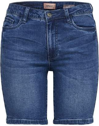 Only Mid-Waist Denim Shorts