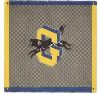Gucci Children's GG wolf scarf