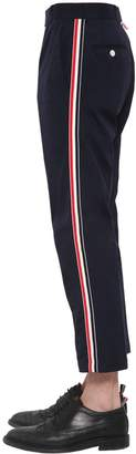Thom Browne Wool Blend Chino Pants W/ Side Bands