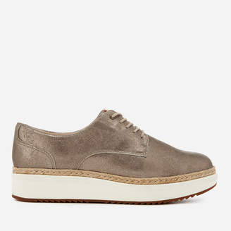 Clarks Women's Teadale Rhea Suede Flatform Oxford Shoes