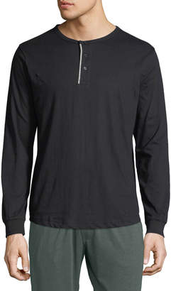 Unsimply Stitched Men's Lounge Henley Shirt