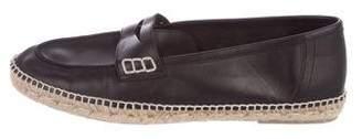 Loewe Leather Espadrille Flats