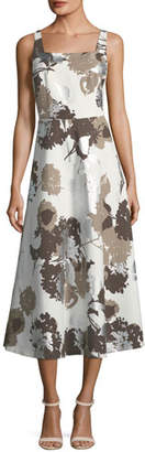 Lafayette 148 New York Glistening Garden Sleeveless A-Line Dress