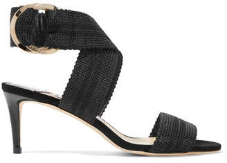 Jimmy Choo Bailey 65 Canvas And Leather Sandals - Black