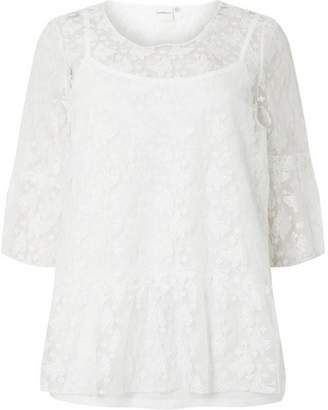 Dorothy Perkins Womens **Juna Rose White 3/4 Sleeve Blouse
