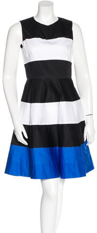 Kate Spade Kate Spade New York Stripe Print A-Line Dress