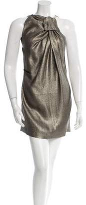 Roland Mouret Sleeveless Metallic Dress