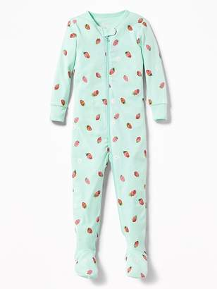 Old Navy Strawberry-Print Footed One-Piece Sleeper for Toddler & Baby