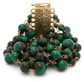 Rosantica By Michela Panero - Esplosione Beaded Metal Bracelet - Womens - Green Multi