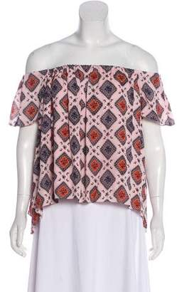Elizabeth and James Silk Short Sleeve Blouse