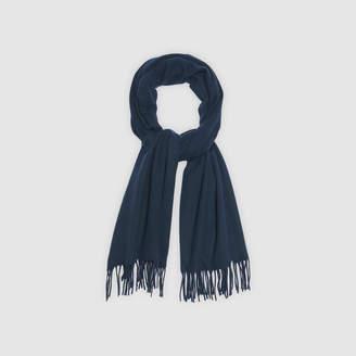 Sandro Plain scarf with fringing