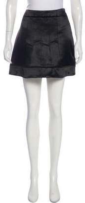Barbara Bui Mini A-Line Skirt Black Mini A-Line Skirt
