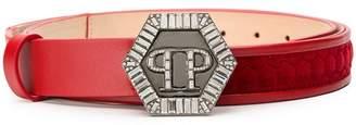 Philipp Plein quilted detail belt