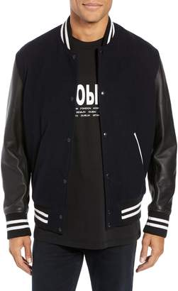 The Kooples Regular Fit Varsity Bomber Jacket
