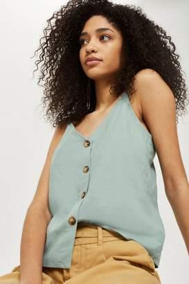 Topshop Button camisole top