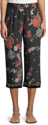 Johnny Was Velvet Mix Culotte Pants, Plus Size