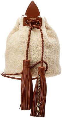 Saint Laurent Anja Small Leather Bucket Bag