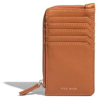 Pixie Mood PIXIE MOOD QUINN CARD WALLET - COGNAC
