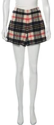 Sonia Rykiel Sonia by Wool Plaid Shorts