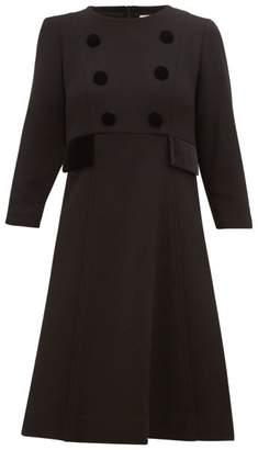 Goat Isme Wool Crepe Dress - Womens - Black
