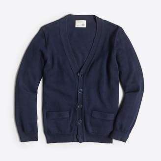 J.Crew Factory Boys' cotton cardigan sweater