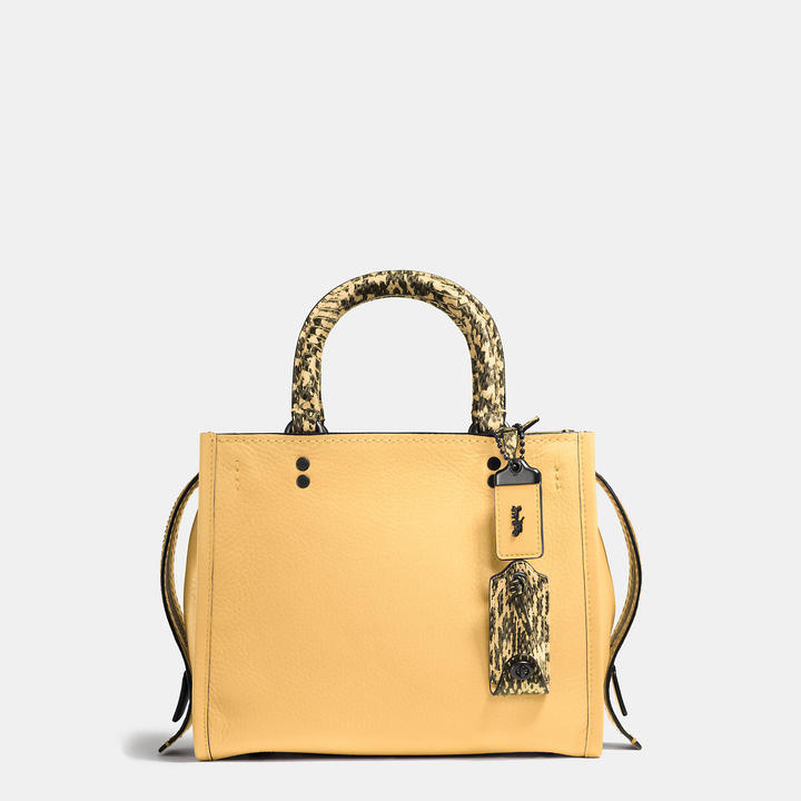 Coach   COACH Coach Rogue 25 In Glovetanned Pebble Leather With Colorblock Snake