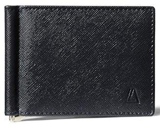 Leather Architect Men's 100% Leather RFID Blocking Bifold Saffiano Wallet with Money Clip