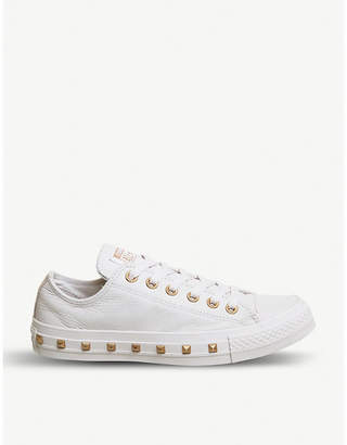 Converse studded leather low-top trainers
