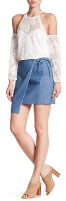 Lucca Couture Asymmetric Overlay Mini Skirt $49 thestylecure.com
