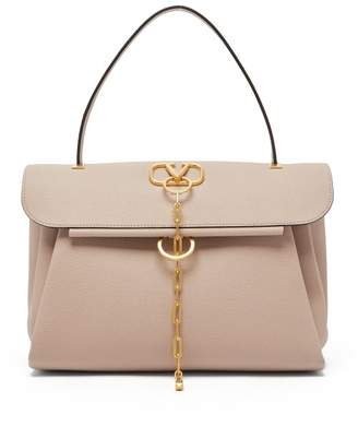 Valentino V Chain Medium Leather Bag - Womens - Nude